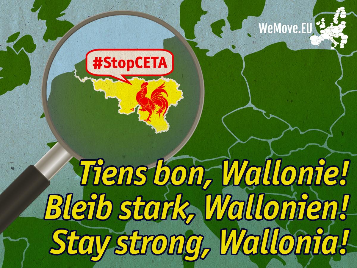 Pétition européenne : Supportons la Wallonie contre le CETA !
