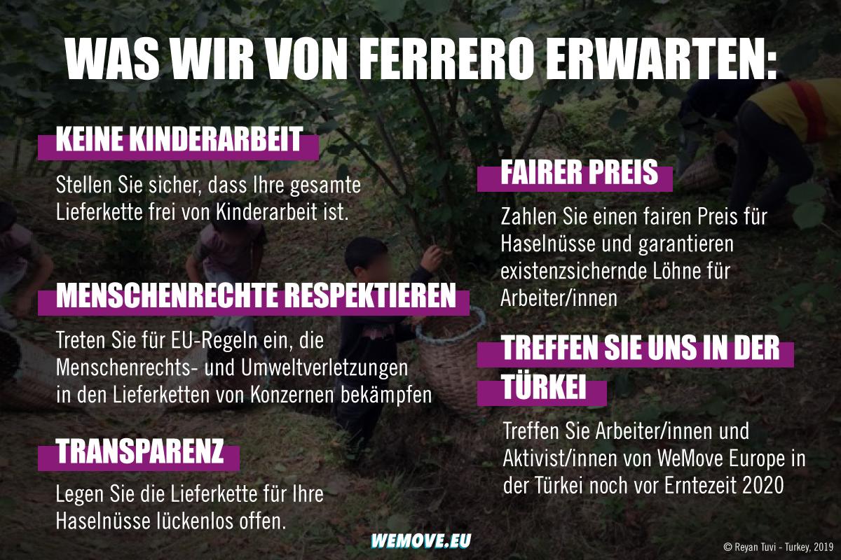 Unsere Forderungen von Ferrero
