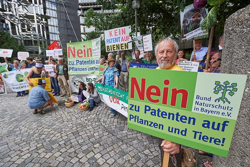 """800 000 citoyens de toute l'Europe disent """"non"""" aux brevets sur les êtres vivants."""