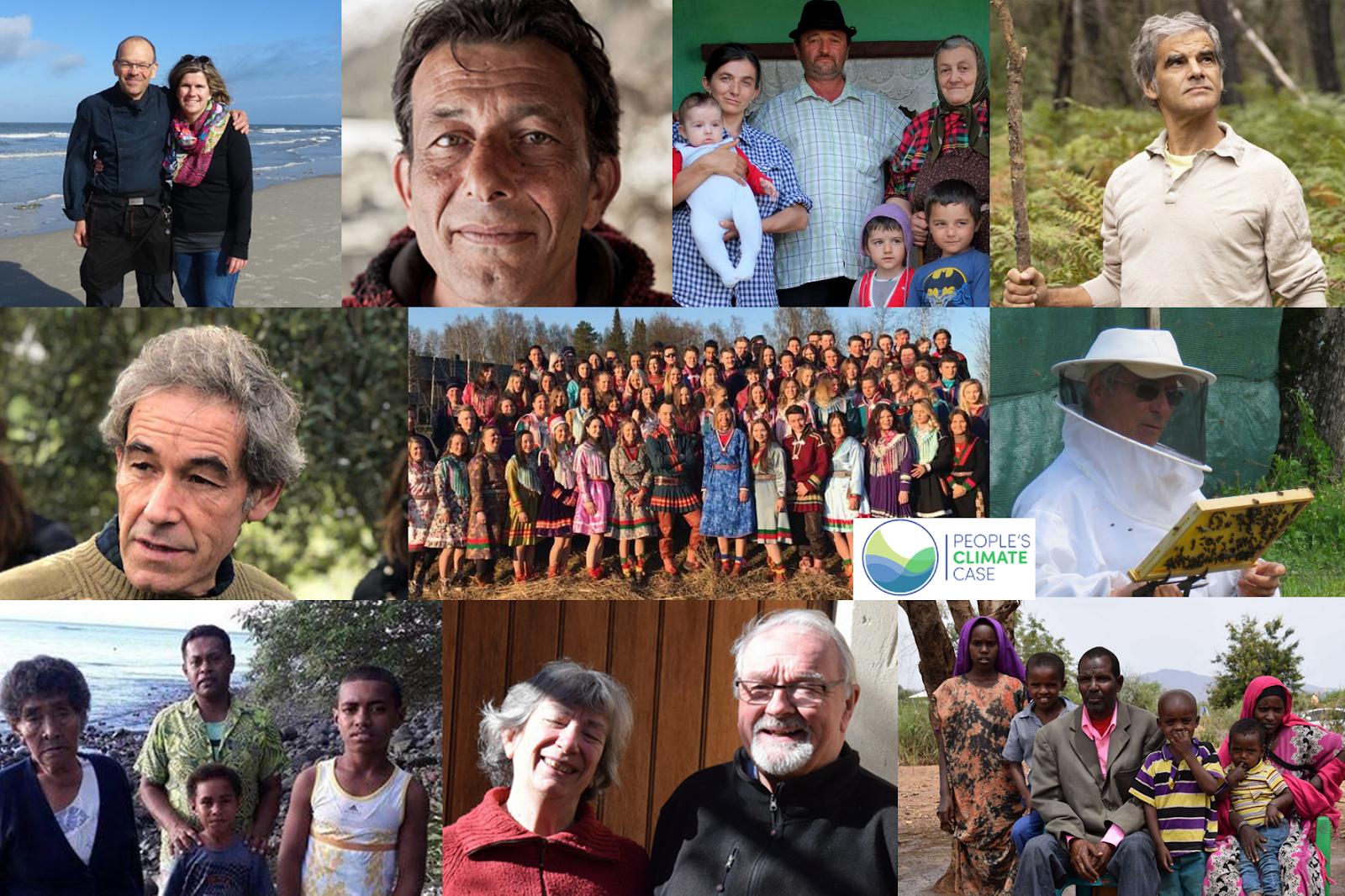 Photo-Collage der Klimakläger