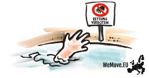 Flüchtlingshilfe ist kein Menschenschmuggel - WeMove Petition gegen Kriminalisierung von Menschenrettern