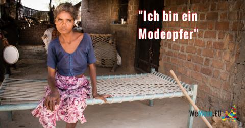 Diese junge Frau ist krank, weil Textilfabriken ihr Abwasser nicht reinigen