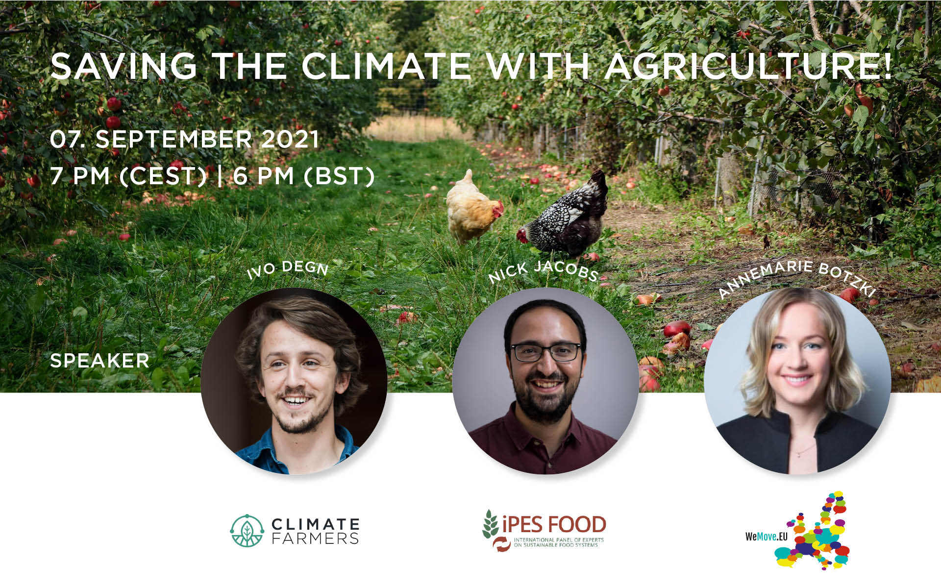 Banner image for event: Saving the climate with agriculture