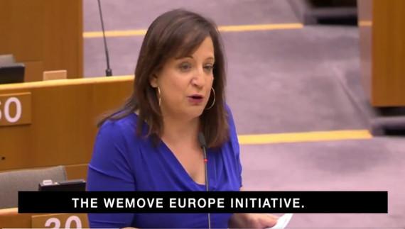 Im Europaparlament: Die Führerin der Sozialdemokraten Iratxe Garcia spricht über unsere Forderungen.